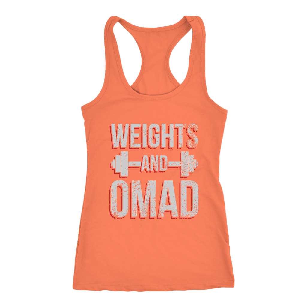 Weights And OMAD - Racerback Tank