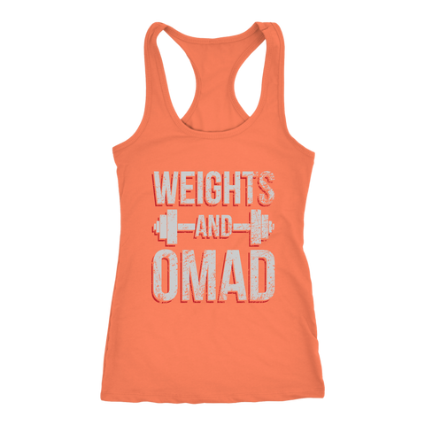 Image of Weights And OMAD - Racerback Tank