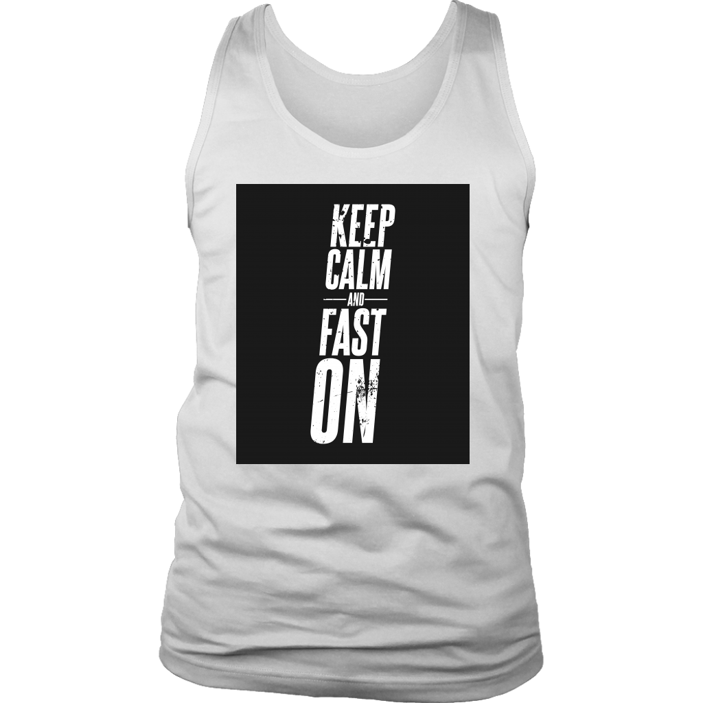 Keep Calm And Fast On - Mens Tank