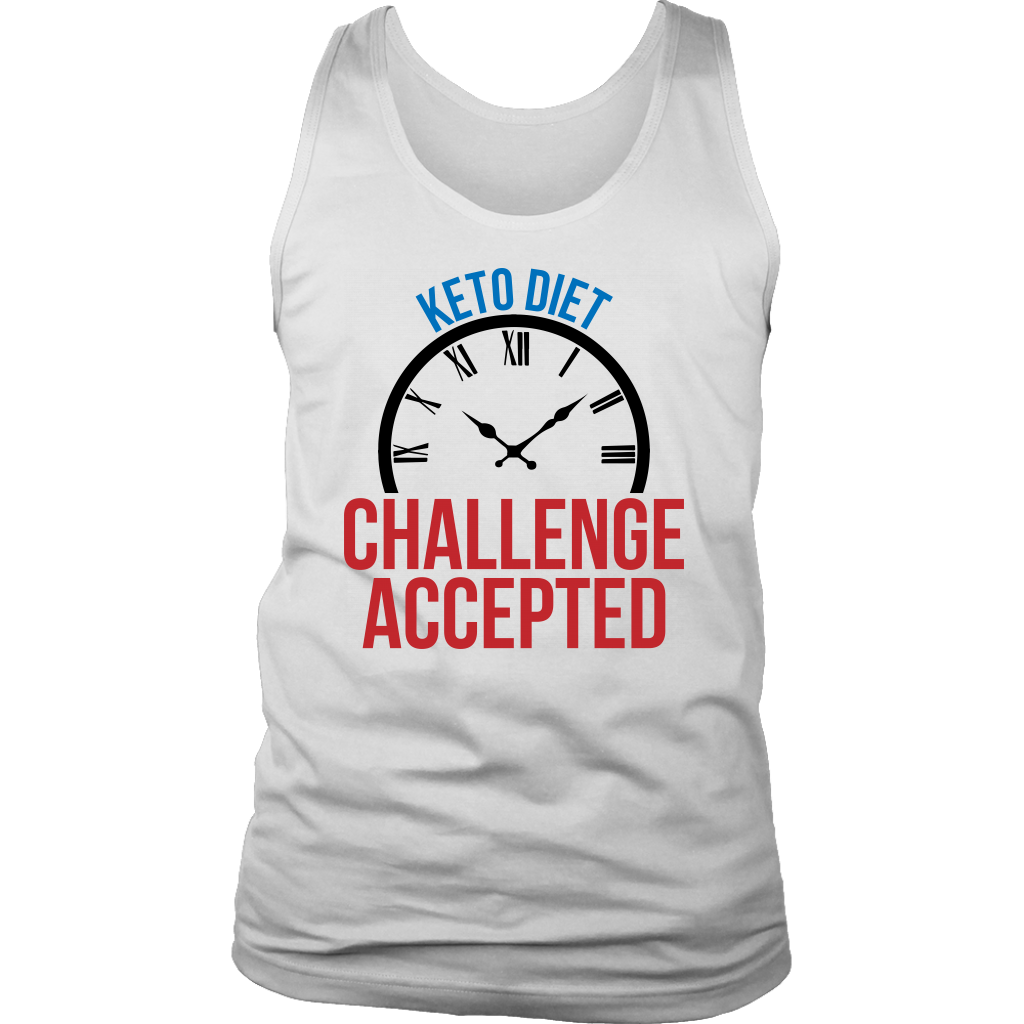 Keto Diet Challenge Accepted - Mens Tank