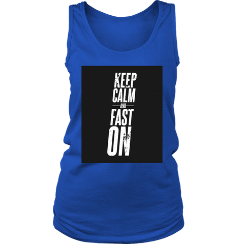Image of Keep Calm And Fast On - Womens Tank