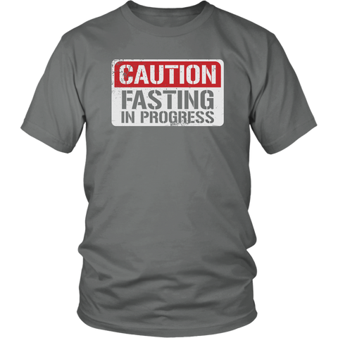 Image of CAUTION Fasting In Progress - Unisex Shirt