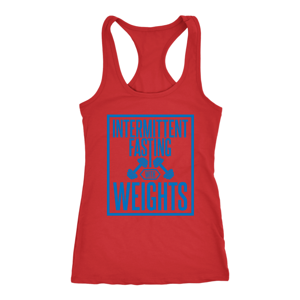Intermittent Fasting With Weights - Racerback Tank