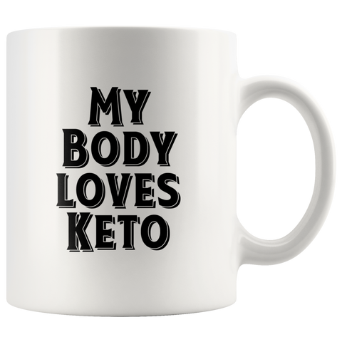 Image of My Body Loves Keto - White 11oz Keto Mug