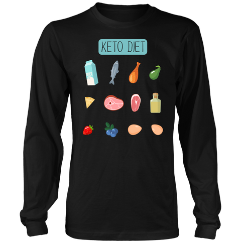 Keto Diet Food Groups - Long Sleeve Shirt