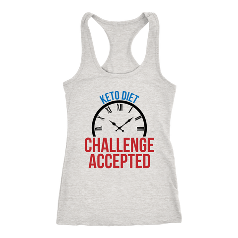 Image of Keto Diet Challenge Accepted - Racerback Tank