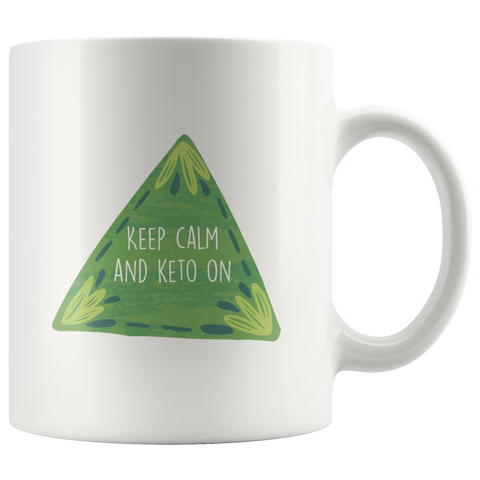 Image of Keep Calm And Keto On - White 11oz Keto Mug