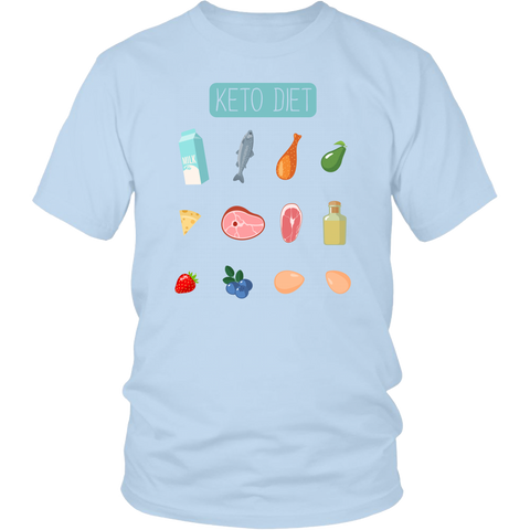 Image of Keto Diet Food Groups - Unisex Shirt