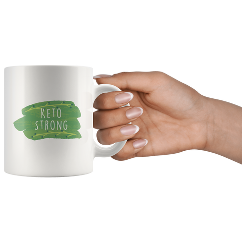 Image of Keto Strong - White 11oz Keto Mug