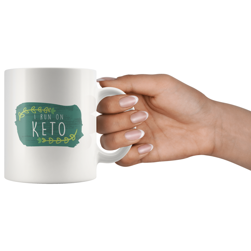 I Run On Keto - White 11oz Keto Mug