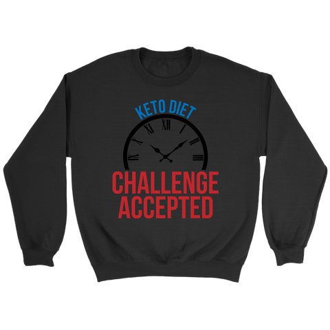 Image of Keto Diet Challenge Accepted - Crewneck Sweatshirt