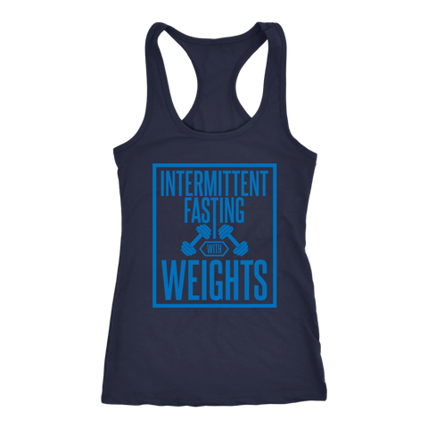 Image of Intermittent Fasting With Weights - Racerback Tank