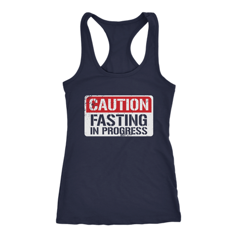 Image of CAUTION Fasting In Progress - Racerback Tank