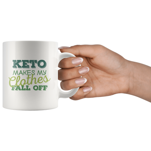 Image of Keto Makes My Clothes Fall Off - White 11oz Keto Mug