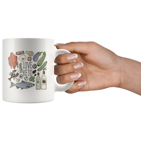Image of Love Keto - White 11oz Keto Mug