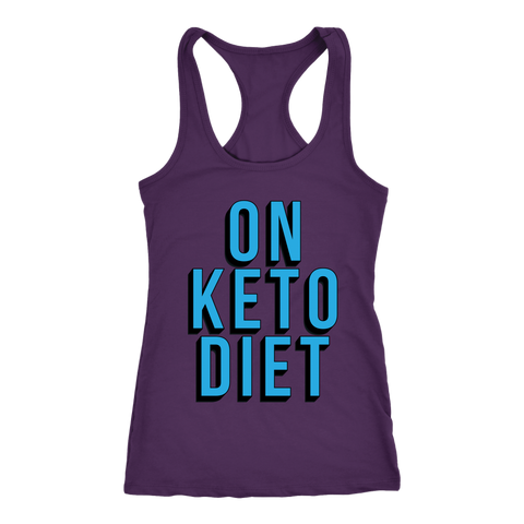 Image of On Keto Diet - Racerback Tank