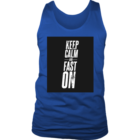 Image of Keep Calm And Fast On - Mens Tank