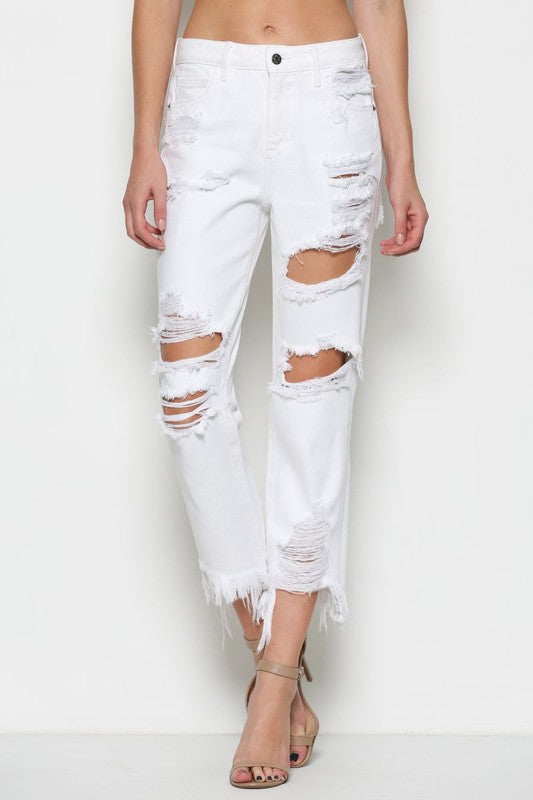 Josephine White Denim