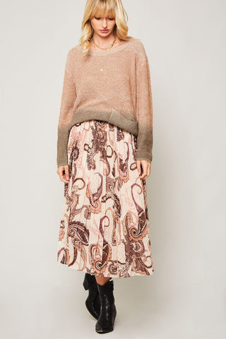 Darla Midi Skirt - Beige<br>***ONLY 2 LEFT***