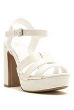 Load image into Gallery viewer, Ginger Platform Heel - White
