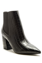 Load image into Gallery viewer, Ur New Favorite Bootie - Black Croco