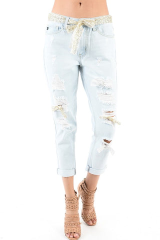 Shimmer Girlfriend Denim