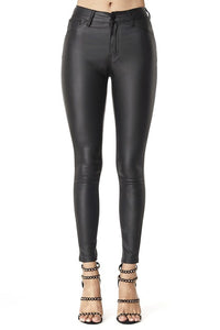 Marcie PU Leather Skinnies