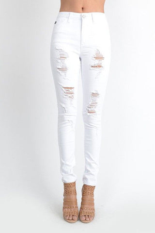 Shredder Skinnies - White