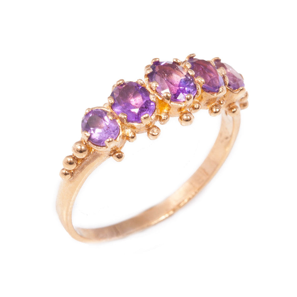 Vintage Amethyst Ring in 9ct yellow gold