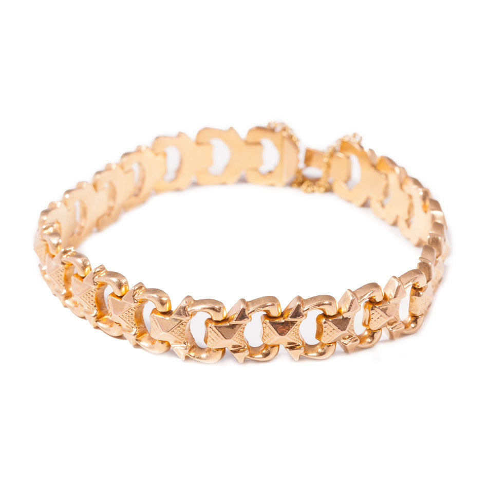 Antique 18ct Yellow Gold Bracelet