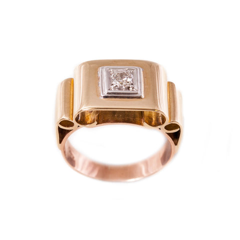 Original Art Deco Diamond Ring in 9ct yellow gold