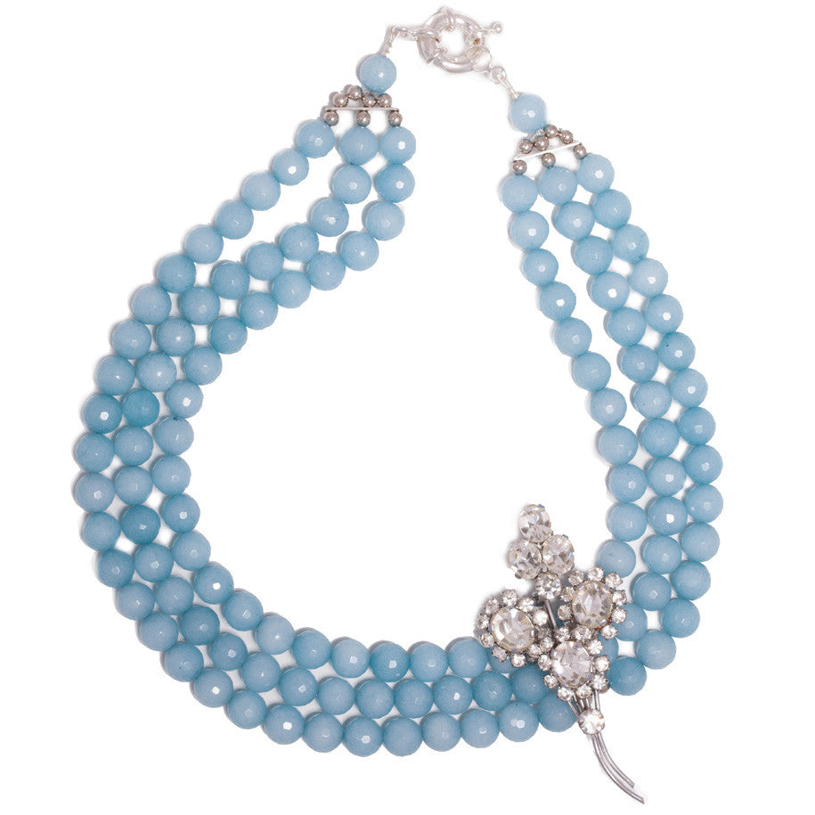 """True blue elegance"" necklace"