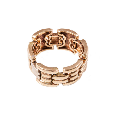 Vintage Chain Ring in 9ct yellow gold