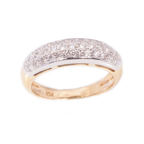 Pave set Diamond Ring in 18ct yellow gold