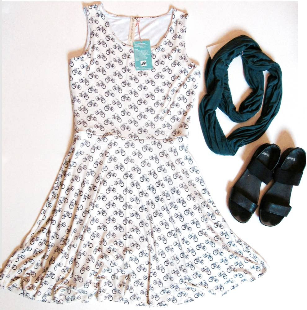 Skater-style bike dress