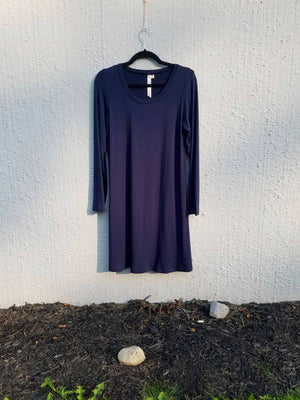 Navy Jersey Fox Dress