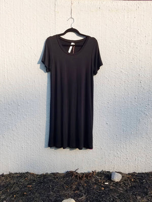 Black Jersey Bee Dress
