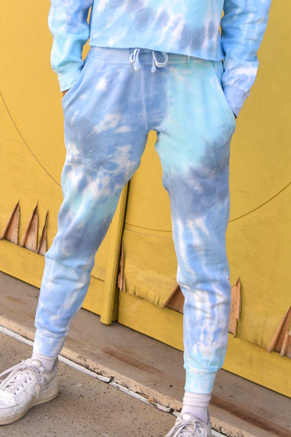 BLUE DREAM TIE DYE SWEATPANTS
