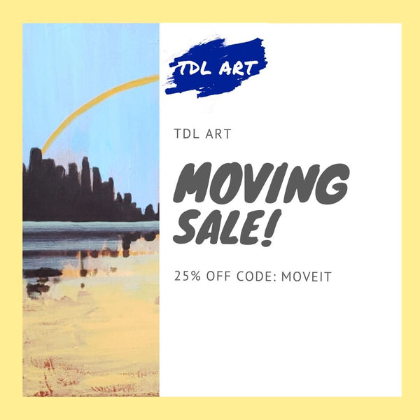 Take advantage of my moving with a sale!