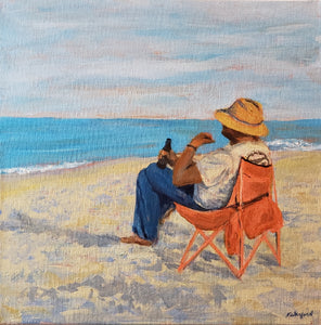 """Beach Sitting"" by Wanford - original art"
