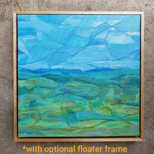 "Load image into Gallery viewer, ""Green and Blue"" Original abstract landscape painting by Kasey Wanford"