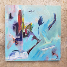 "Load image into Gallery viewer, ""Barrio Cart"" original abstract painting by Kasey Wanford"