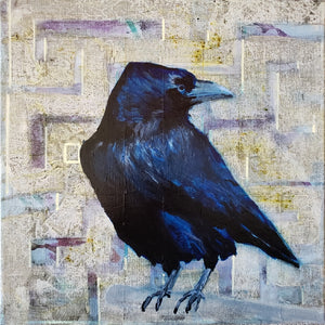 """Raven"" Original painting by Kasey Wanford"