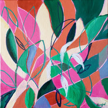 "Load image into Gallery viewer, ""Care and Feeding of Houseplants"" Original abstract painting by Kasey Wanford"