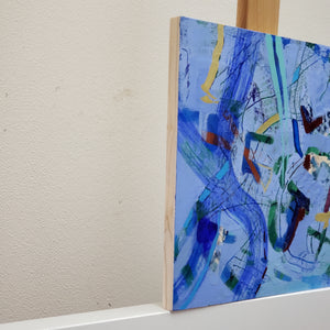 """Blue Decisions"" Original abstract painting by Kasey Wanford"