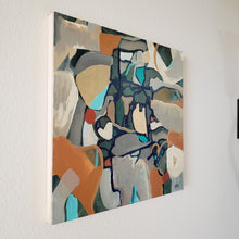 "Load image into Gallery viewer, ""Listening to Wilco"" abstract original painting by Kasey Wanford"