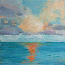 "Load image into Gallery viewer, ""Topical Sea"" original art, acrylic on canvas"