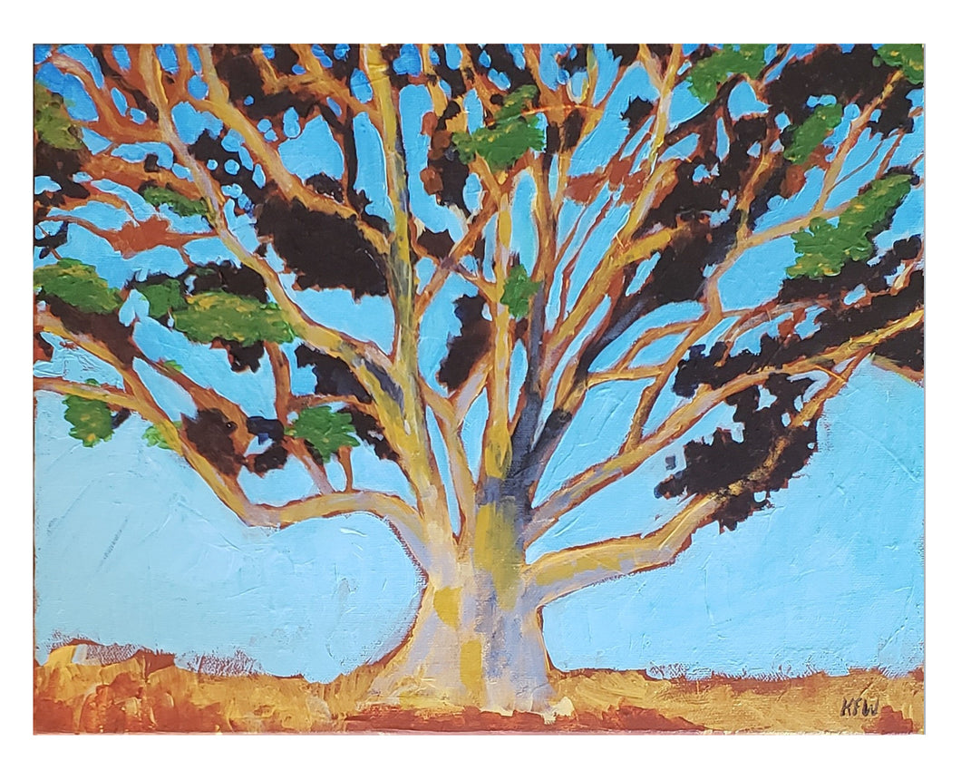Golden Eucalyptus - by Wanford Acrylic paint on canvas