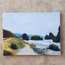 "Load image into Gallery viewer, ""Gold Beach"" Original art on canvas by Kasey Wanford"