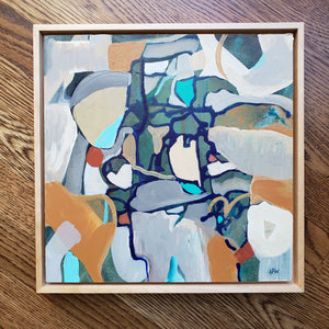 """Listening to Wilco"" abstract original painting by Kasey Wanford"